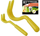 Tick Remover Removal Hook Tool; Remove Ticks On Dogs Cats, All Other Animals As Well As Humans With This Easy To Use Hook & Twist Tool! Free Pocket Instructions Included - ** PACK OF 2 **