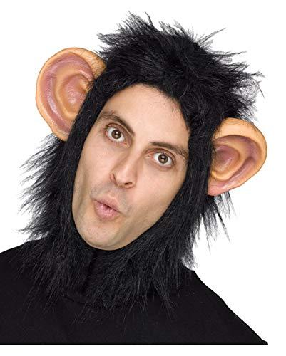 Horror-Shop Affen Mütze mit Haaren für Fasching & Karneval
