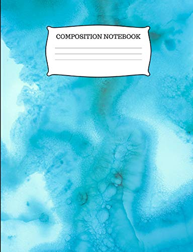 Composition Notebook: College Ruled Swirly Blue Composition Book -