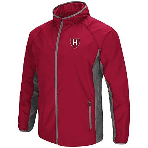 Colosseum NCAA Herren Jacke Archer Full Zip Hooded Lightweight, Herren, Harvard University Crimson, Medium - Hooded Zip
