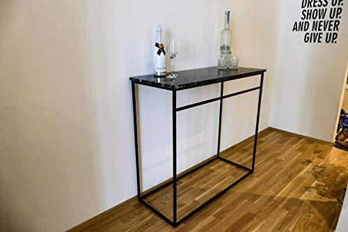 FidgetGear Lounge/Design/Bistro Tisch Granit Schwarz - Black Forrest Granit Show One Size