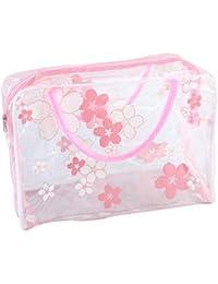 e1236a63f STRIR Bolsa Impermeable de PVC Neceser Transparente, Bolsa de Cosmético  Bolsa de Mano Organizador de Viaje…