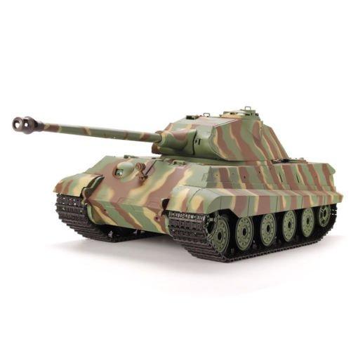Dilwe 1/16 2.4G Fernbedienung Deutsch König Tiger Battle Tank BB schießen und Rauchen und Ton