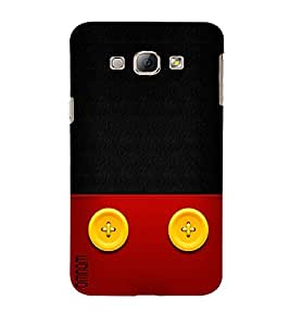 Omnam Black Red Designer Button Attached Printed Back Cover Case For Samsung Galaxy A8
