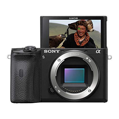 Sony Alpha 6600 E-Mount Systemkamera (24 Megapixel, 4K Video, höhere Akkuleistung, opt. Bildstabilisierung, 0.02 Sek. Echtzeit-Autofokus mit 425 AF-Punkten, XGA OLED Sucher, nur Gehäuse) schwarz