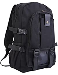 Very Cheap Men's Outdoor Sport Vintage Canvas Military BackBag Shoulder Travel Hiking Camping School Bag Backpack