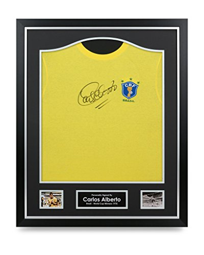 Carlos-Alberto-Signed-Shirt-Brazil-1970-Framed-Autograph-Jersey-Memorabilia-COA