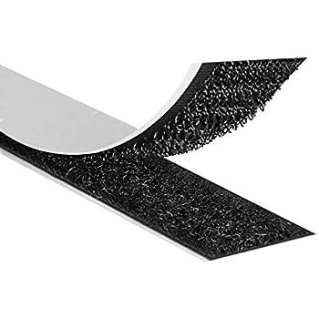 25m Haken- und 25m Flauschband 25m Klettband zum Aufnähen 20mm Schwarz