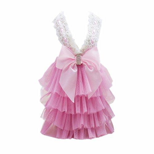 MagiDeal Koreanischen Stil Hund Katze Hundekleid Brautkleid Kleid Party Kostüm Outfit - S