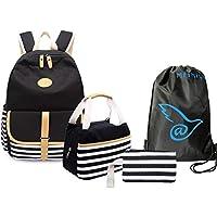 4 Teile Set Causal Rucksack Freizeitrucksack Daypacks Backpack, Rucksack Schule/Schulranzen +Schultertasche /Messenger…