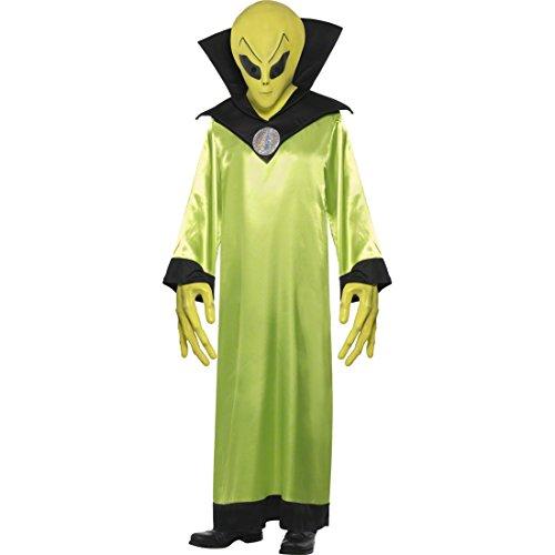 Alien Kostüm neon gelb M 48/50 Alienkostüm Außerirdischer Aliens Karnevalskostüm Halloweenkostüm (Außerirdische Kostüm Der Et)
