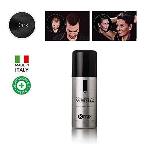 Kmax Concealing Color Spray 100 ml. Haarverdichter Spray Haarverdichtungsspray, Farbe:Schwarz