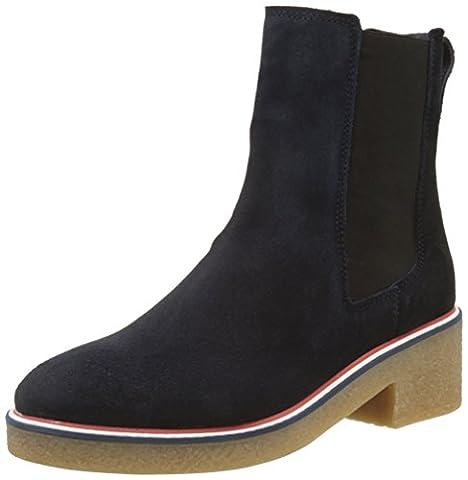 Tommy Hilfiger Damen M1285IA 3B Desert Boots, Blau (Midnight), 41 EU (Chelsea Girls Schuhe)