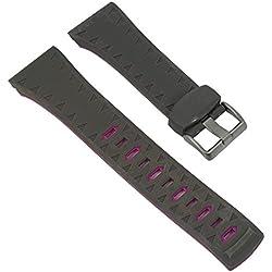 uhrenarmband Kunststoff grau/pink band 28mm passend zu Calypso watches k5584/6K5584