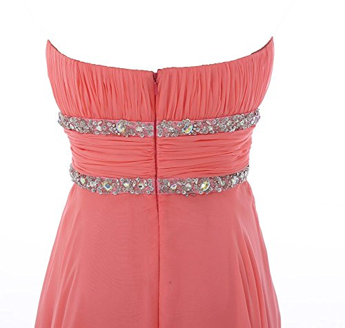YiYaDawn Asymemetrische Abendkleider Ballkleider für Damen Türkis