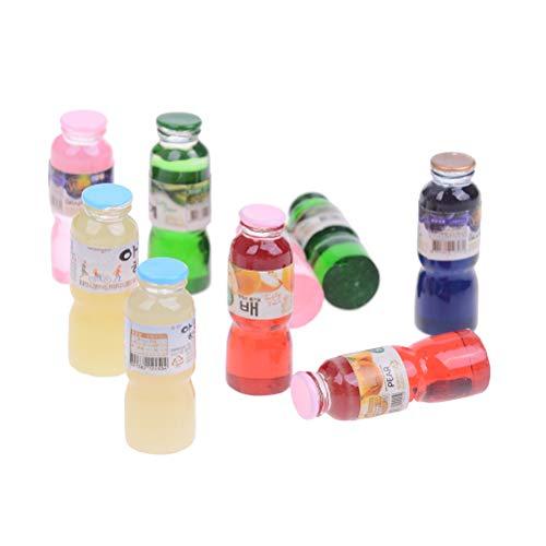 10 stücke mischfarbe puppenhaus Miniatur Spielzeug Mini Trinken Flasche Spielzeug Puppe Trinken küche Wohnzimmer Dekoration zubehör -