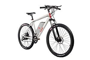 Telefunken E-Bike Mountainbike Elektrofahrrad Alu, weiß, 27 Gang Shimano Kettenschaltung - Pedelec MTB leicht, Hinterradmotor direct drive 250W, Reifengröße: 27,5 Zoll, Aufsteiger M850