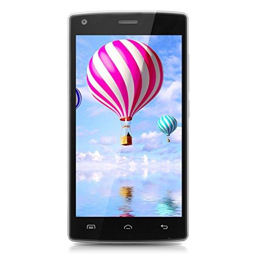 Smartphone ohne Vertrag, DOOGEE X5 MAX Dual SIM Android 6.0 Handy, 5 Zoll HD Display, MTK6580 Quad Core, 1GB RAM + 8GB ROM - 8MP + 8MP Kameras, 4000mAh mit Fingerabdruck Sensor - Schwarz Entsperren Bei&t-handys