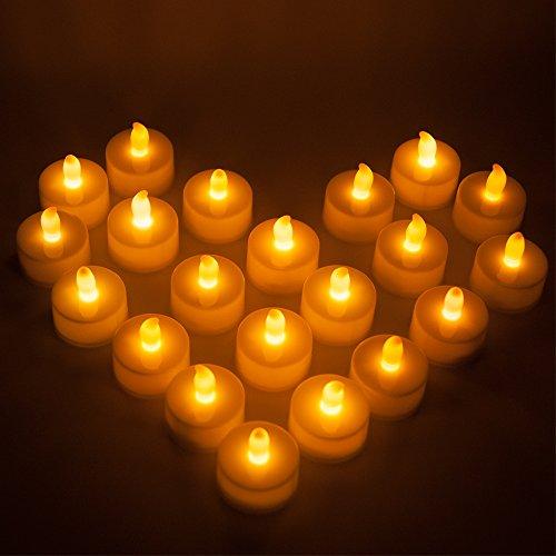 Maxah, 24 velas LED, 24 Jaune
