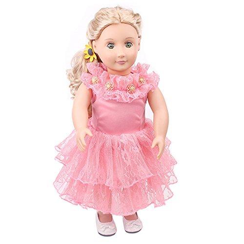 YunYoud Spitzenkleid Druck Hübsches Kleid Passt Outfit für -