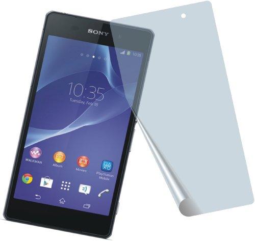 4x Sony Xperia Z2 ENTSPIEGELNDE PREMIUM Displayschutzfolie Bildschirmschutzfolie von 4ProTec - Nahezu blendfreie Antireflexfolie
