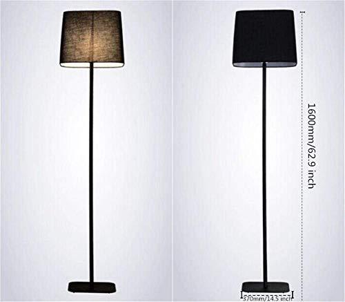 Stehlampe Led-lampe (Geschenk) Moderne Einfache Stoffschirm Schmiedeeisen Schwarz Stehlampe 1,6 Mt mit Fußschalter für Wohnzimmer Schlafzimmer Büro Nacht Lesen