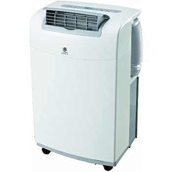 White & Brown AC 35 HP Climatiseur Mobile Monobloc Roulettes Blanc et Cool Grey