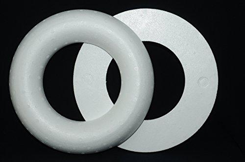 , 35 cm, RÖMER Vollmaterial / 1 Stück (Styropor Kranz Ringe)