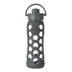 Lifefactory Glas-trinkflasche mit Flip Top Deckel, Carbon, 14703