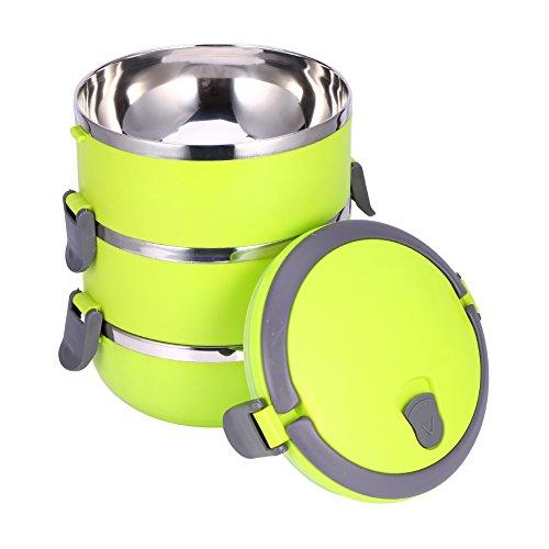 Yosoo contenitori alimentari per pranzo sistema porta ermetico 1/2/3/4 scomparti bento box in acciaio inossidabile