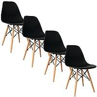 Informations de base:   NOM: Eggree lot de 4 chaise de salle à manger  MATERIEL: Couvercle en plastique, Cadre en métal, Pieds en bois  POIDS: NW: 14KG; GW: 16KG  4PC / CTN  TAILLE DU PRODUIT: 42 * 46.5 * 82.5cm  CTN TAILLE: 56 * 48 * 48cm   Caractér...