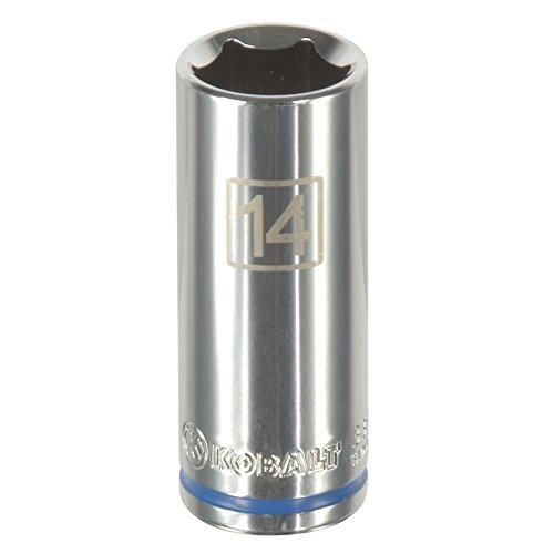 Kobalt 338127 6-kant Stecknuss 1/4 Zoll x 14 mm - Kobalt-blauer Streifen