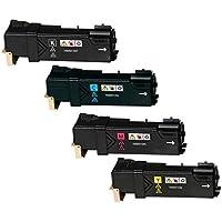 Kit 4 Toner Compatibili per Xerox Phaser 6500DN, 6500N, WorkCentre 6505DN, 6505N | Nero: 3.000 Pagine & Ciano/Magenta/Giallo: 2.500 Pagine