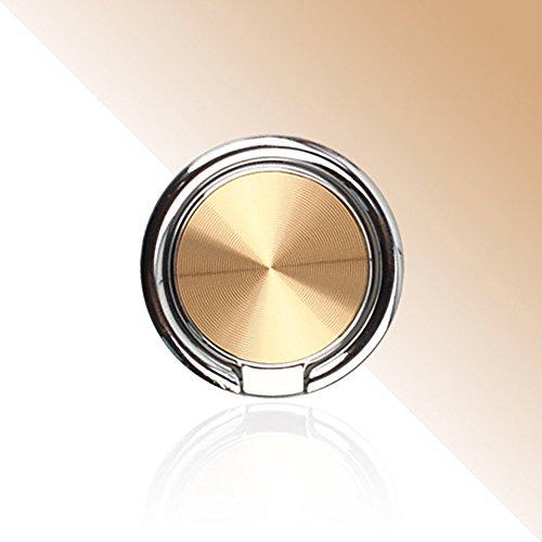 Anello pigro a forma di anello a forma di goccia, anello di presa con anello per il polso stent universale per smartphone attaccabile a magnetico supporto per auto rotazione a 360 ° flip a 180 ° (oro)