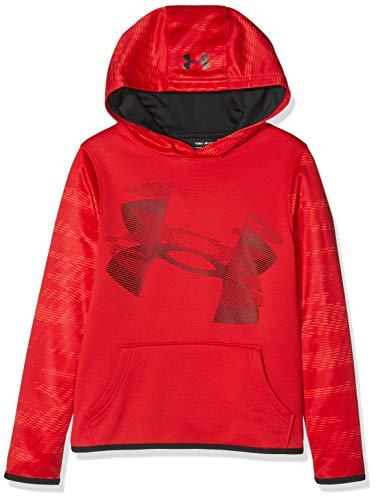 Under Armour Jungen Fleece Hoody Oberteil, Red/Black (600), YXL - Under Armour-fleece-hoody