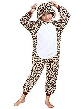 Cliont Animales de los niños Onesie del guepardo pijama de la ropa de noche de Navidad Kigurumi niño del traje...