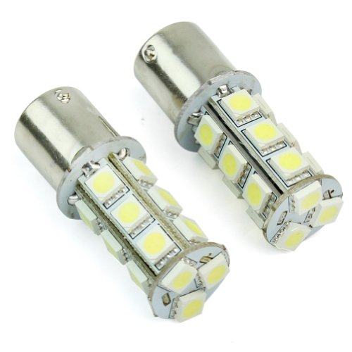 Rhx 1156 BA15S 18 SMD 5050 LED-Lampen (Weiß) für Rücklicht / Blinker, 2 Stück