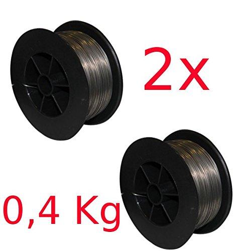 Preisvergleich Produktbild GÜDE 2 x Fülldraht 0,9 mm Stahl Kleinspule für Schweißgerät SGA120 NEU