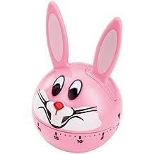Horwood Temporizador analógico de conejo, Rosa