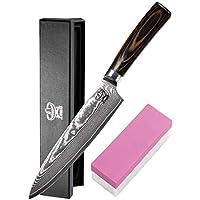 Zeuß XL Küchenmesser Damastmesser - Profimesser - Santoku - Kochmesser - Chefmesser - Allzweckmesser - 67 Schichten Japanischem Damaststahl