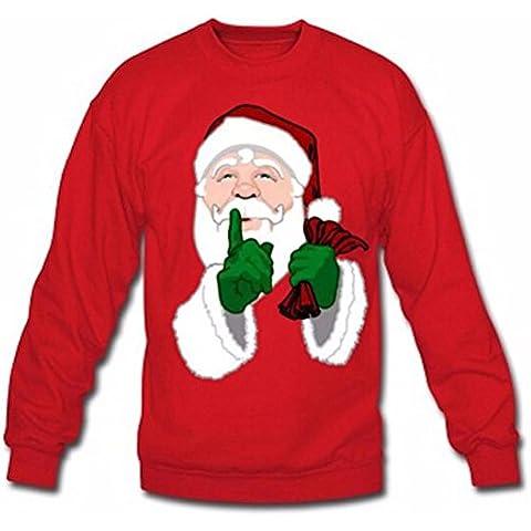 Regalo de Navidad GillBerry Mujer Papá Terciopelo Suéter Camisa remata la blusa