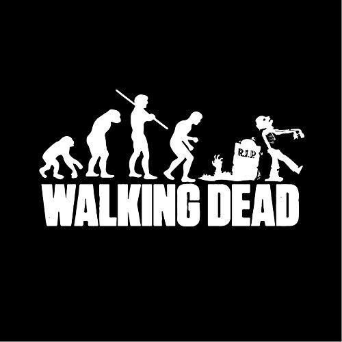 MAKAYA Walking Dead Hooded Sweatshirt - Zombie Evolution Hoodie Black M