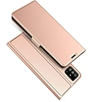 XINKOE Case for Samsung Galaxy A71, Smooth Series Ultra Slim, PU Leather Wallet case Stand Cover,Magnetic Closure,TPU bumper-Leather Flip Cover Wallet (Rose Gold)