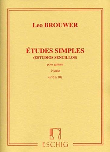 Études simples (estudios sencillos) pour Guitare - 2e série (N°6 à 10)