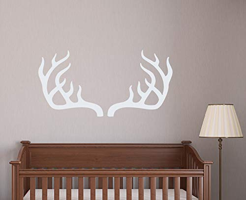 zhuziji Deer Antler Horns Interior Wall Sticker Baby Girls Boys Bedding Decor Simple Removable Pattern Kids Nursery Wall Sticker 57x126cm