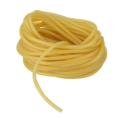 WEONE sicurezza sostituzione 3 x 5 mm di lattice di gomma naturale band per parte della catapulta elastica esterna Slingshot fitness e movimento del corpo 10M Lunghezza Giallo