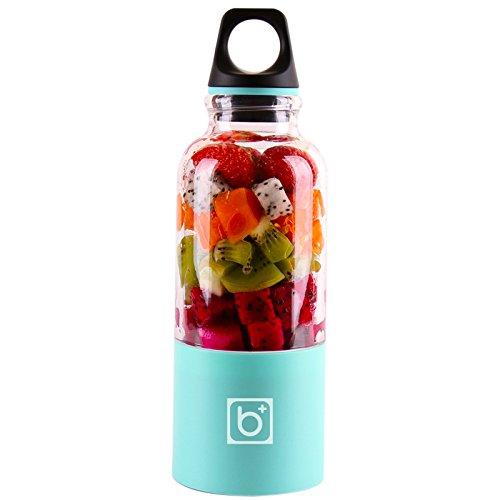 REFURBISHHOUSE 500 Ml Tragbarer Entsafter Becher USB Wiederaufladbare Elektrische Automatische Bingo Gemüse Fruchtsaft Werkzeuge Hersteller Becher Blender Mixer Flasche Blau