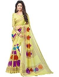 Miraan Women's Silk Saree With Blouse Piece
