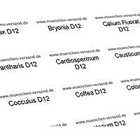 65 Universal Globuli/Glasröhrchen Etiketten - fertig beschriftet/gedruckt preisvergleich bei billige-tabletten.eu