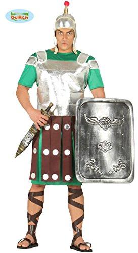 römischer Legionär Soldat Karneval Party Motto Kostüm für Herren Silber Gr. M - L , (Römisch Motto Party Kostüm)